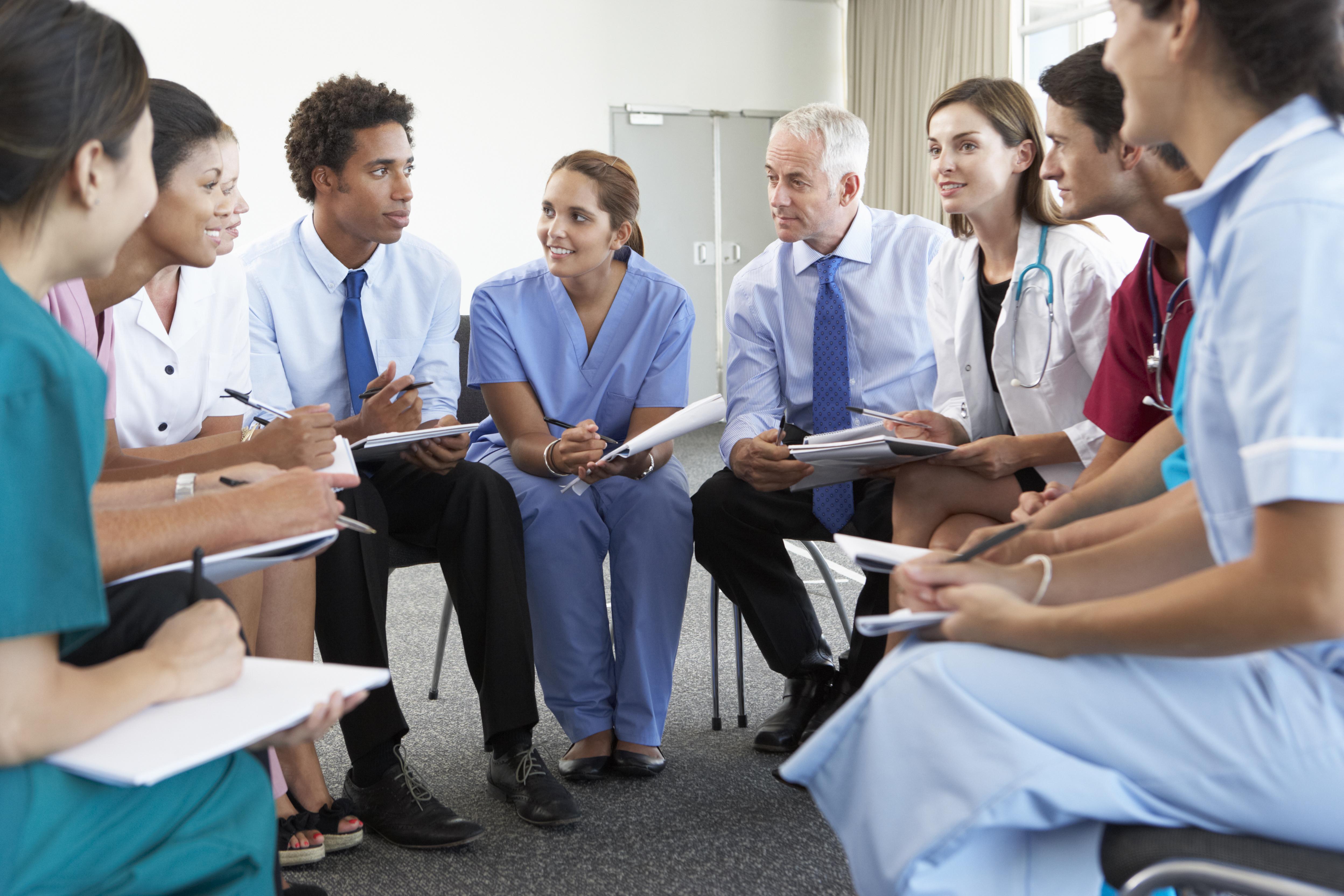 Doctors in a meeting room