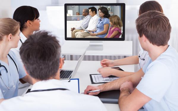 Doctors watching catalyst film