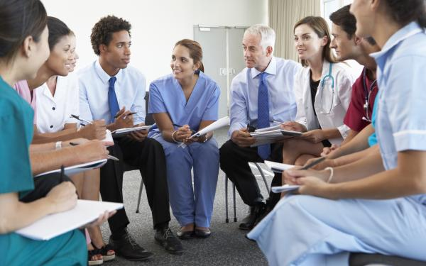 Doctors in a meeting room