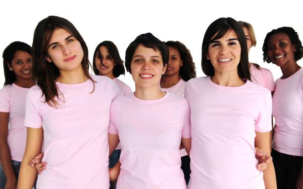 Group of women in pink
